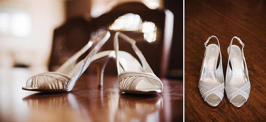Silver Wedding Details Shoes