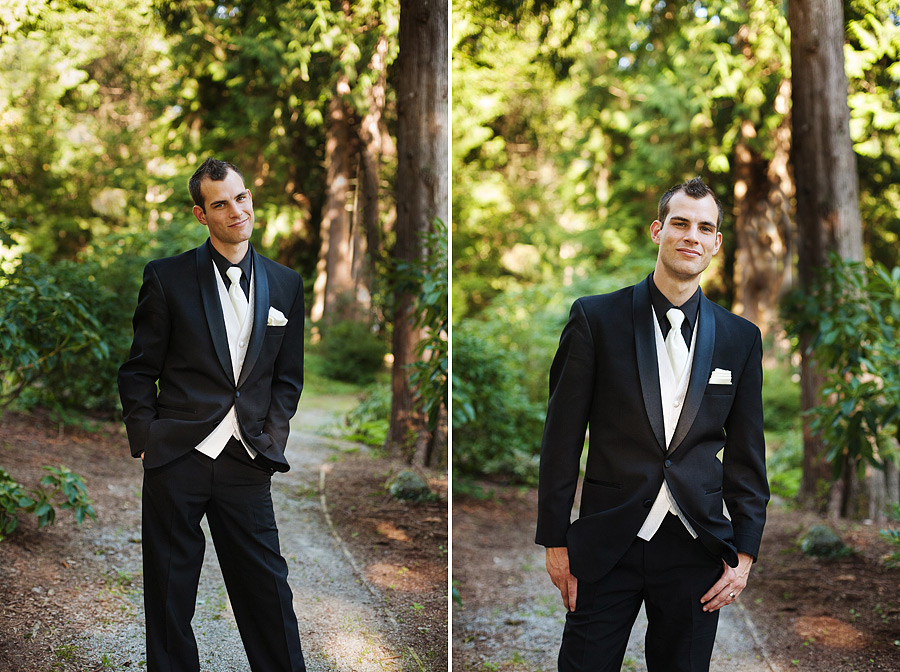 Casual Groom Portrait Outdoors
