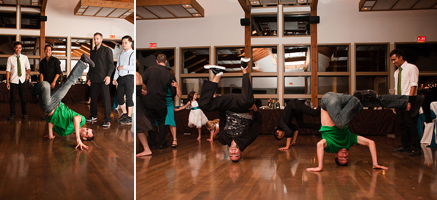 Breakdancing at Wedding Reception