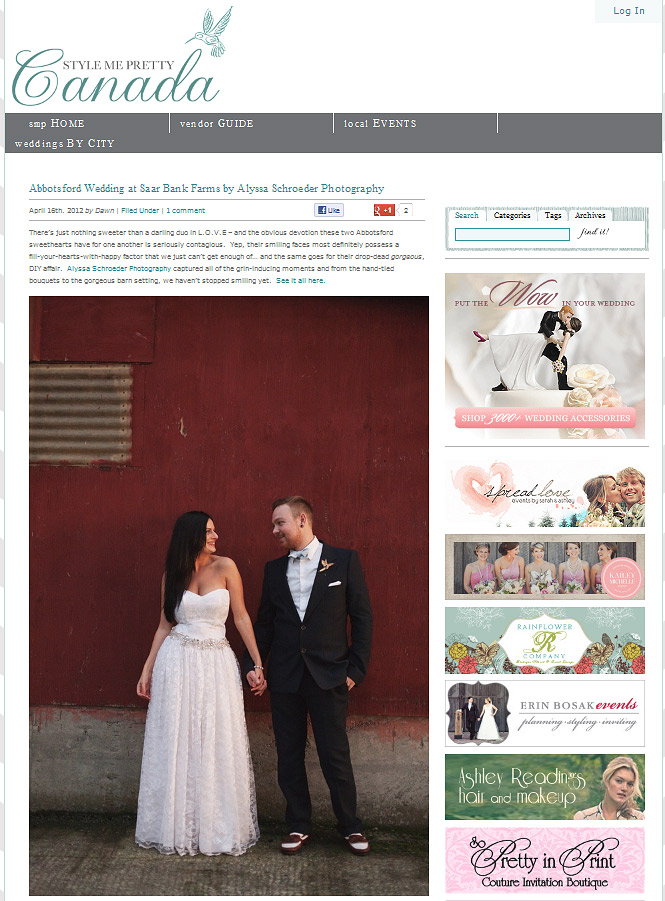 Style Me Pretty Canada Feature