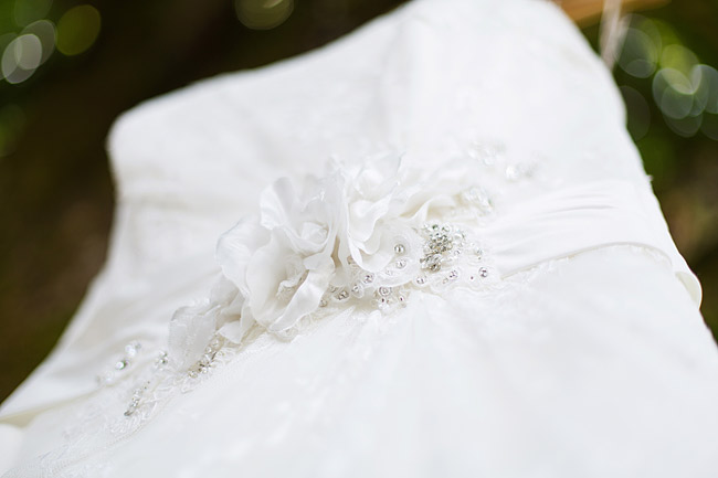 Wedding Dress Flower Details