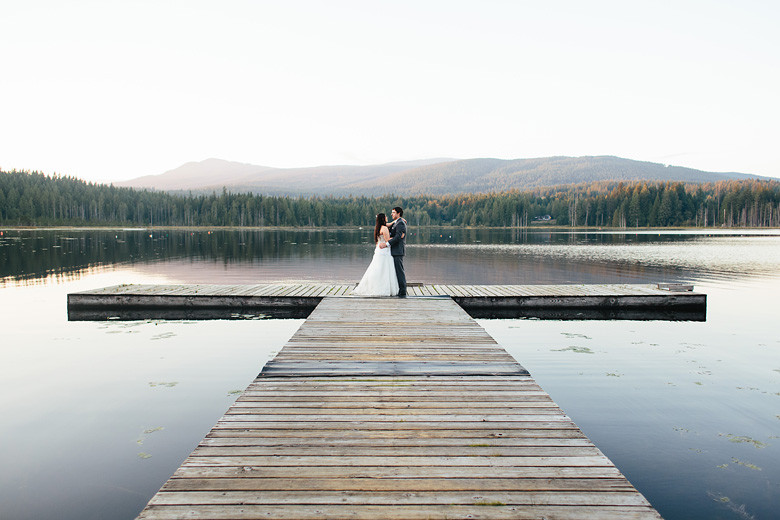 Whonnock Lake Dock Wedding