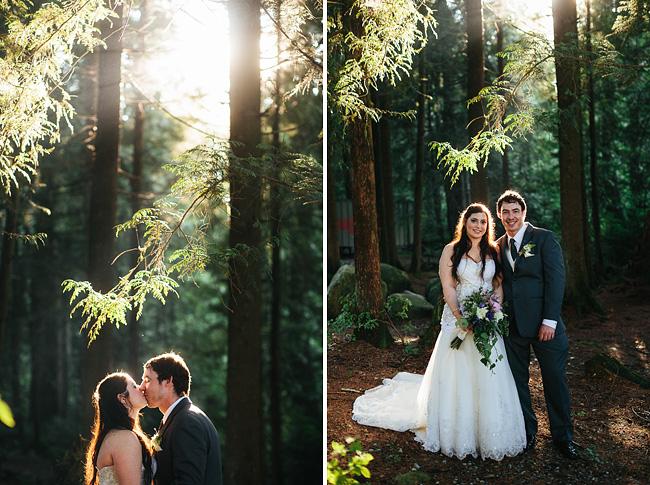 Bride Groom Woods Wedding