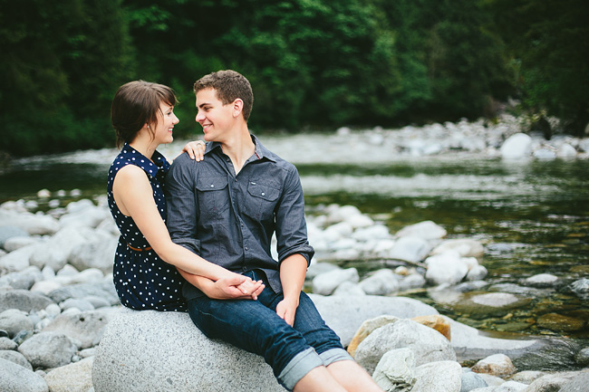 Natural engagement photos British Columbia