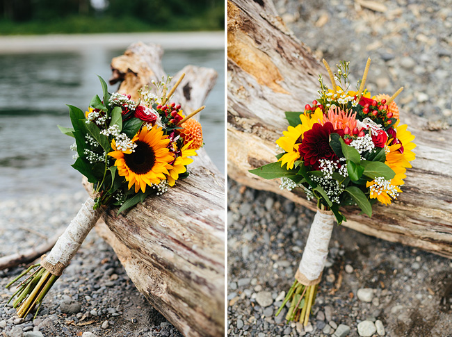 sunflower rustic bouquet