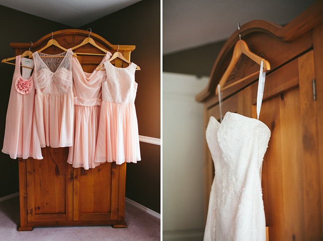 pink bridesmaid chiffon dresses
