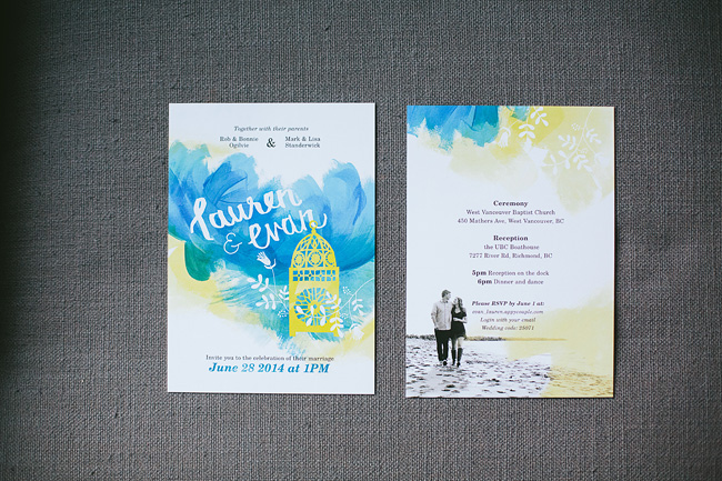 Custom wedding invitations Vancouver