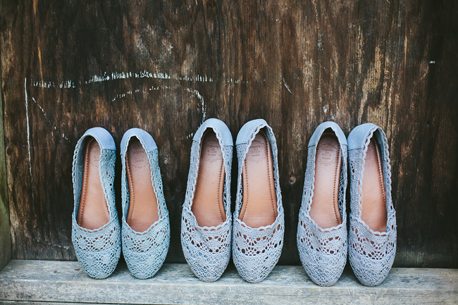 Grey Lace Wedding Flats