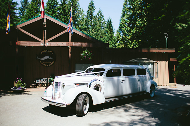 White Vintage Limo Vancouver