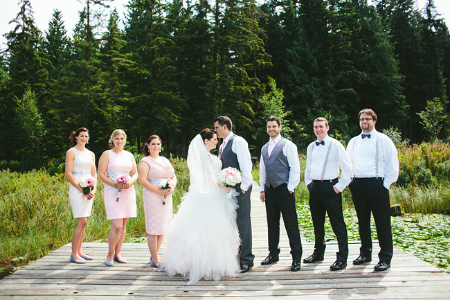 Bridal Party on Dock