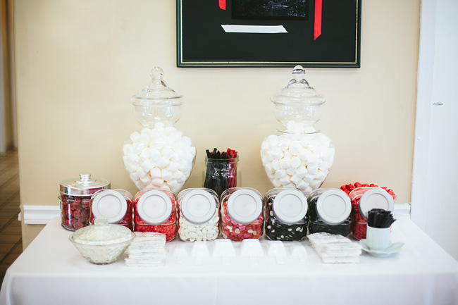 Black Red Candy Buffet