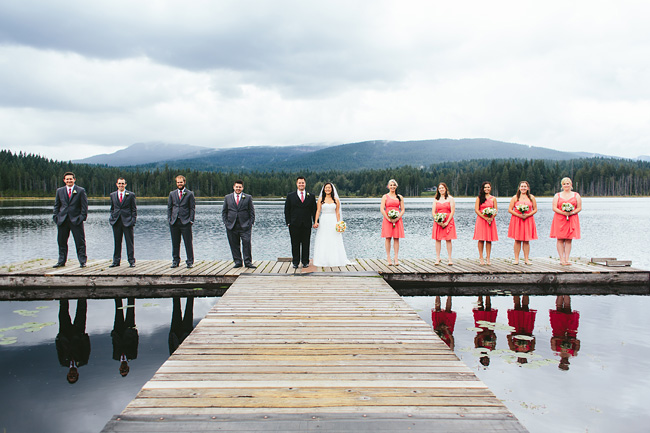 Bridal Party on the Dock