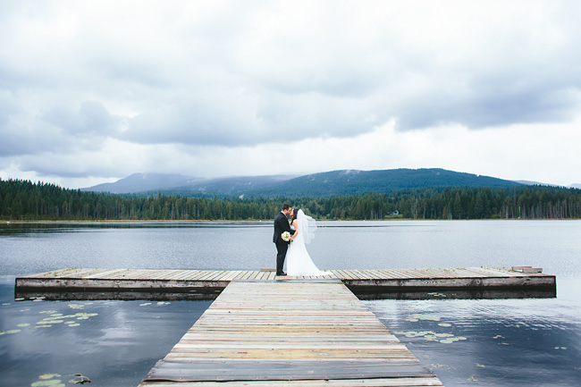 Cloudy Wedding at Whonnock lake