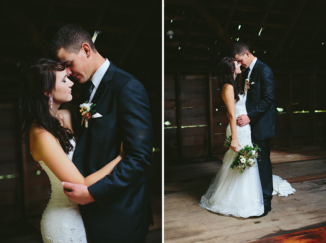 Barn loft wedding photos