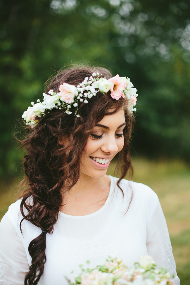 Floral Crown with baby's breath