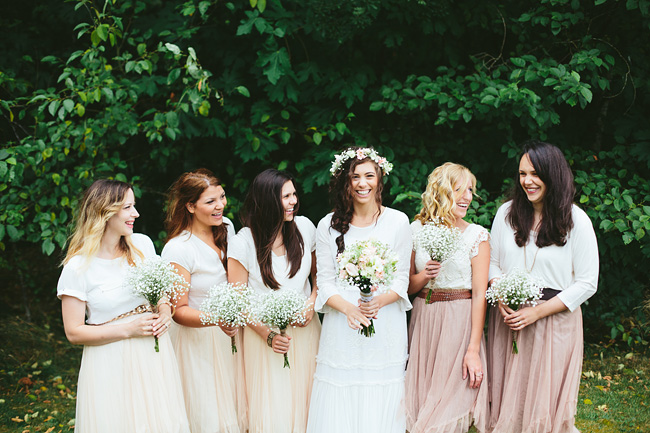 Bohemian Blush Ivory Bridesmaids