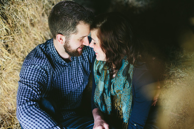 Hayloft Engagement Session