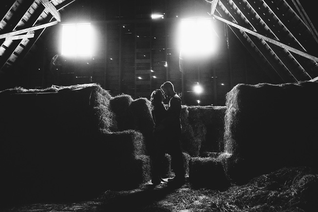 Barn Silhouette Engagement Session