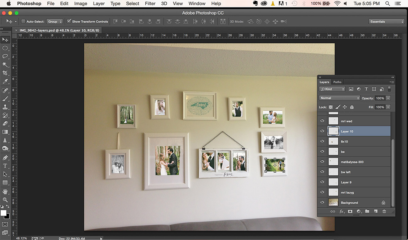 Photoshop Gallery Wall Plan