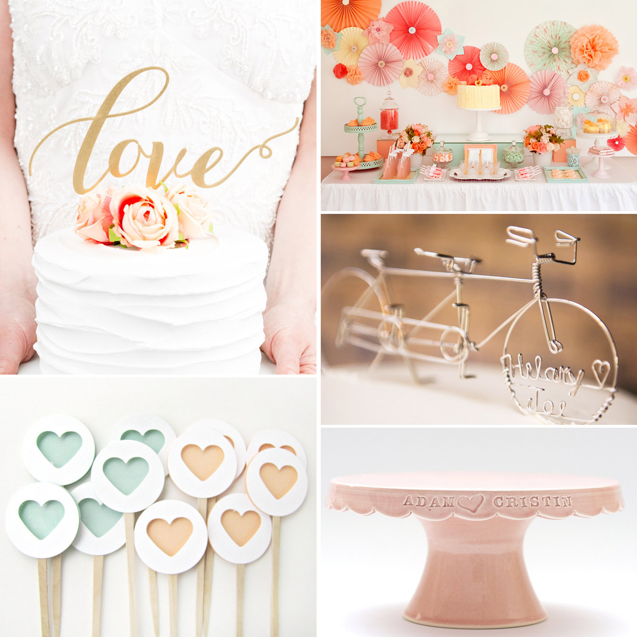 Etsy Cake Stands and Cake Toppers