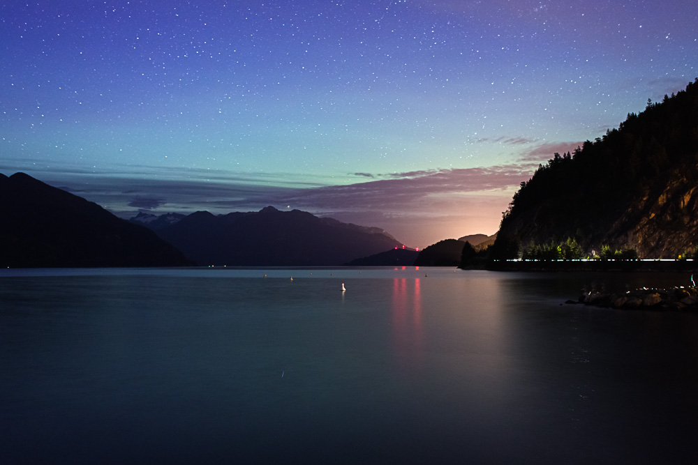 Porteau Cove, BC before Northern Lights