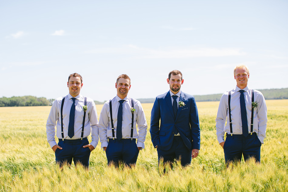 Groomsmen in Manitoba Field