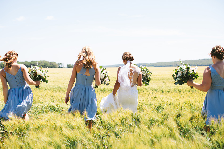 Wedding Party in Manitoba Field