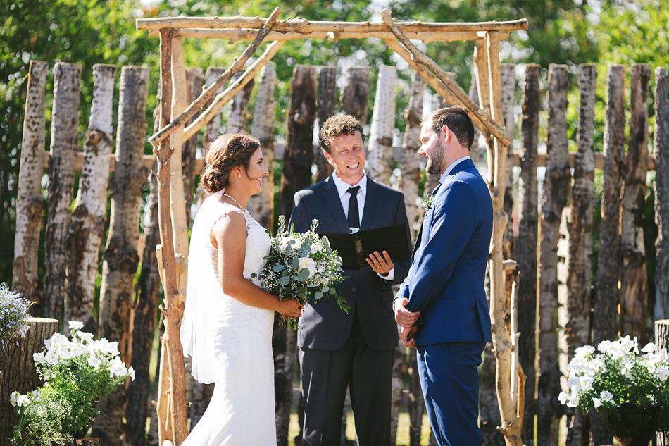 Manitoba Farm Wedding Ceremony