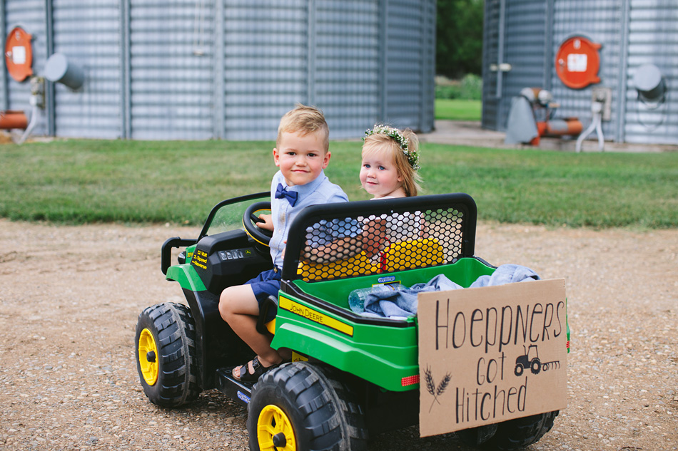Flower Girl and Ring Bearer on John Deere