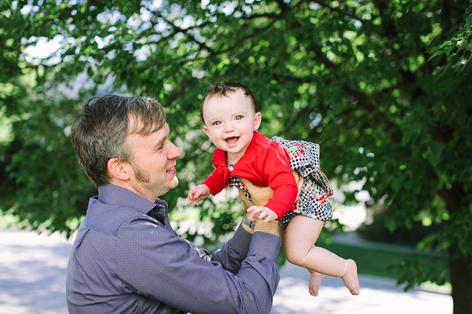 Candid Baby Portrait in Winnipeg