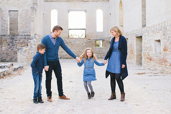 Family Portraits at St. Norbert Ruins