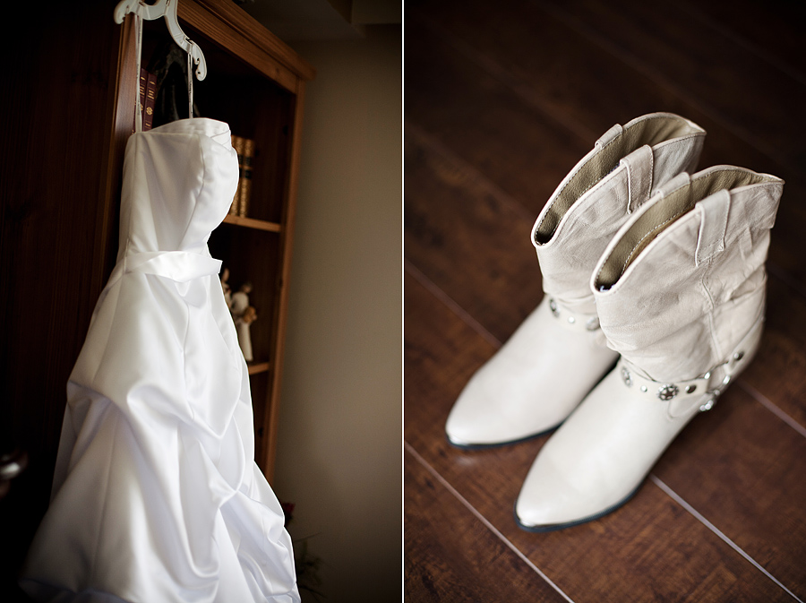 Wedding Dress Cowboy Boots