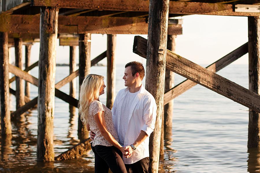 White Rock Engagement Photos Sunset