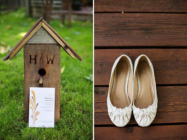 Wedding Shoes on Wood