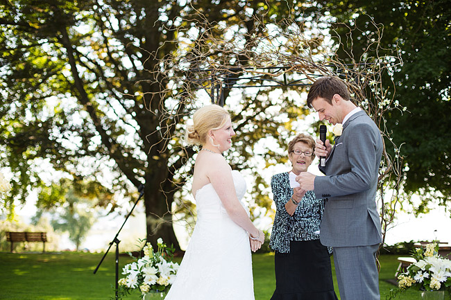 Wedding Vows at Peace Arch Park