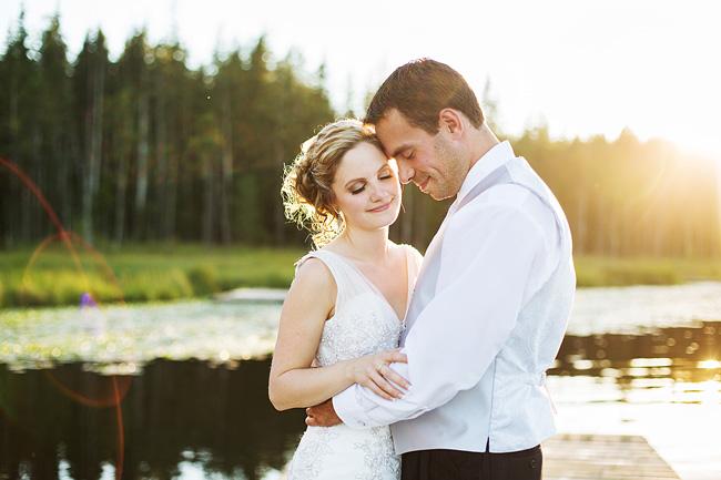 Whonnock Lake Wedding Sunset