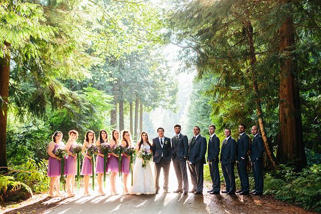 bridal party at whonnock lake
