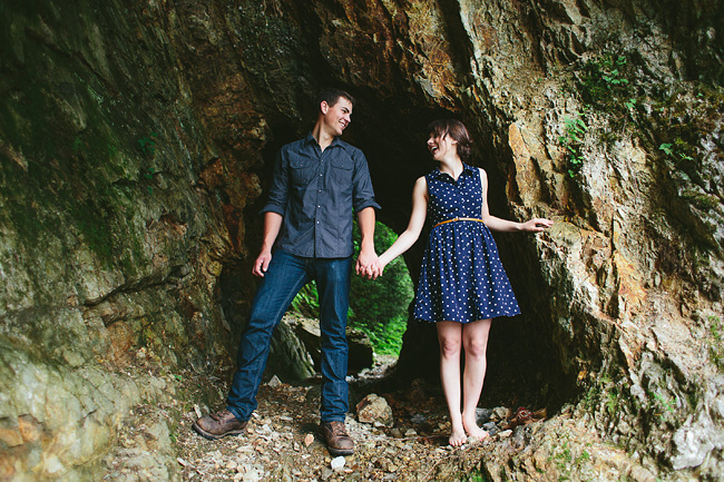 cave engagement photos