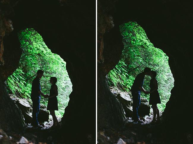British Columbia Cave Engagement Photos