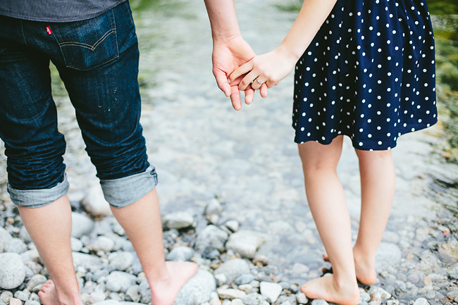 barefoot river engagement
