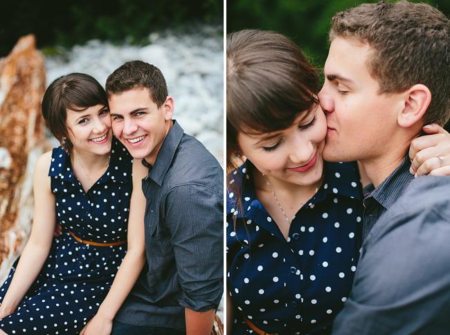 kissing closeup portrait