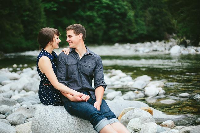 Natural engagement photos British Columbia