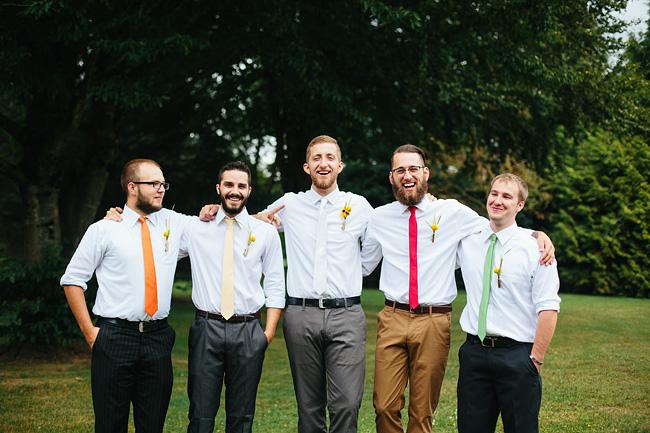 mismatched groomsmen ties