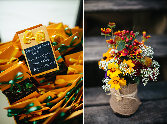 sunflower seed wedding favors
