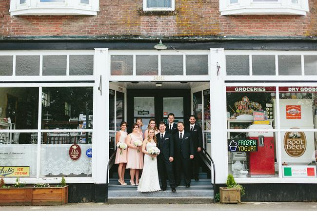 vintage store bridal party