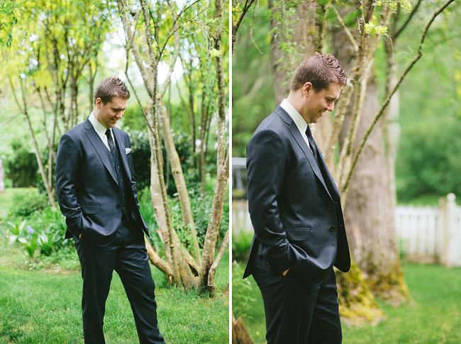groom before first look