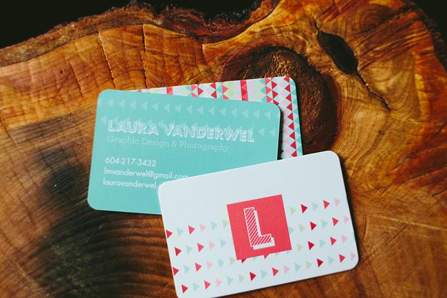 Graphic Designer Business Card by Laura Vanderwel