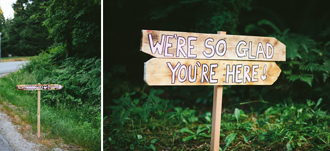 Wedding You're Here Sign