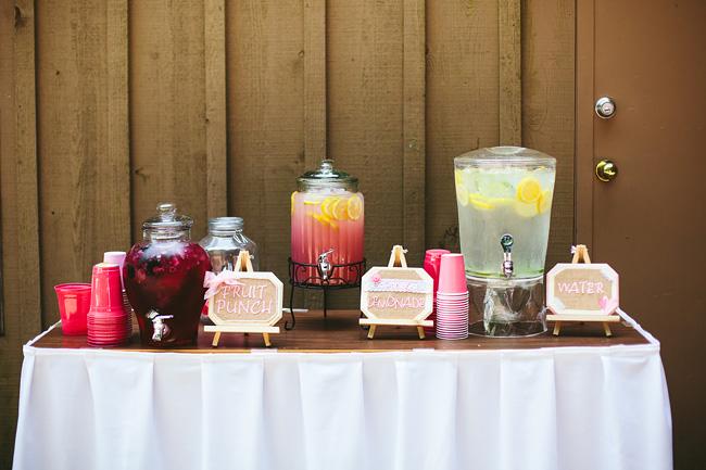 punch lemonade bar wedding