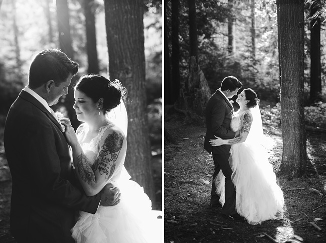 Bride and Groom Forest Sunset